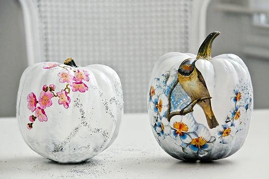 Halloween Ideen Bemalte Kürbisse