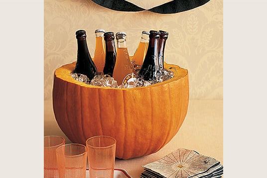 Halloween Ideen Kürbis Kühler