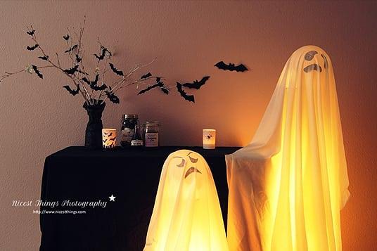 Halloween Idee Leuchtgeister