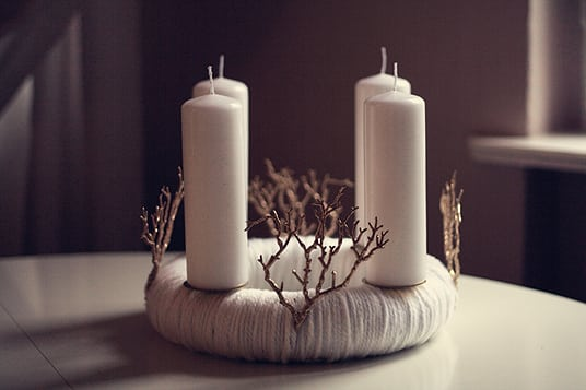 diy woll adventskranz the kaisers. Black Bedroom Furniture Sets. Home Design Ideas
