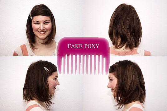 Fake Pony Stylinganleitung Long Bob Frisuren Cheaperia