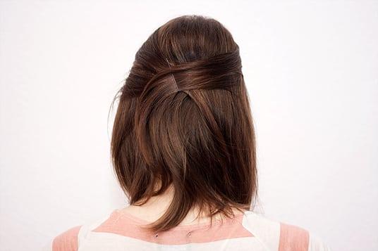 Halb Hochgesteckte Haare Hinten überkreuzt Long Bob Frisuren