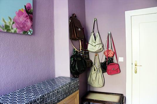 Taschenaufhängung Arbeitszimmer