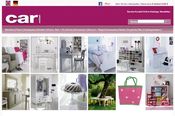 Deko-Online-Shop Entdeckungen Carmöbel