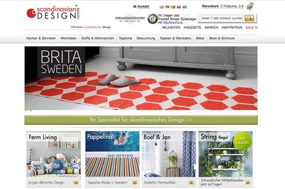 Deko-Online-Shop Entdeckungen Scandinavian Design Center
