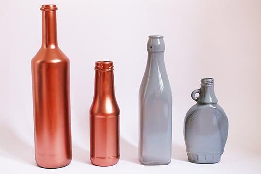 Upcycling DIY Adventskranz Flaschen