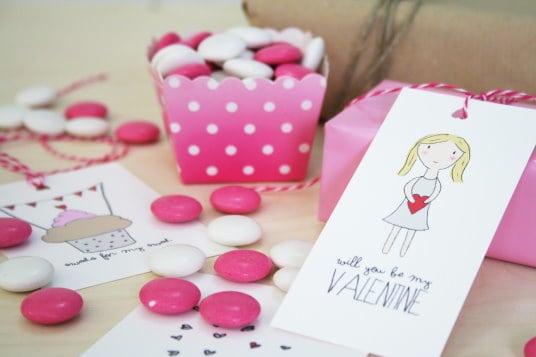 DIY Geschenkideen zum Valentinstag Geschenkanhänger