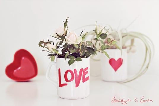 DIY Geschenkideen zum Valentinstag Tasse