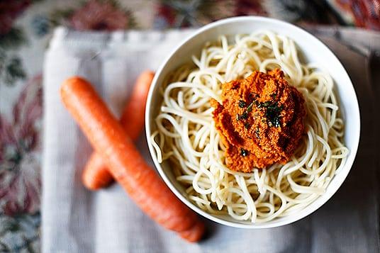 Spaghetti mit Möhrenpesto 2