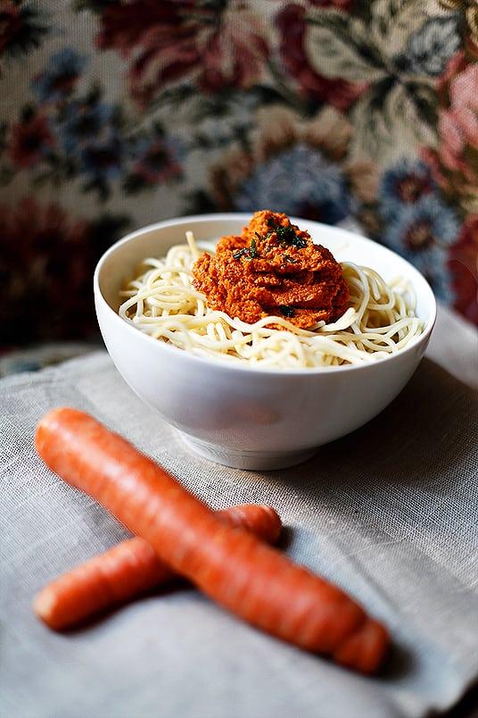Spaghetti mit Möhrenpesto 3