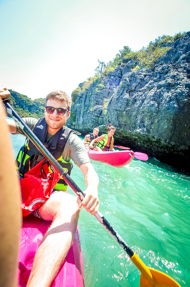 Angthong Nationalpark Thailand Nice Sea Tour Kayaking