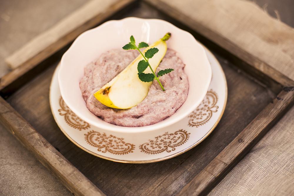 Birnen-Rotweincreme mit Ingwer mit Monsieur Cuisine Rezept