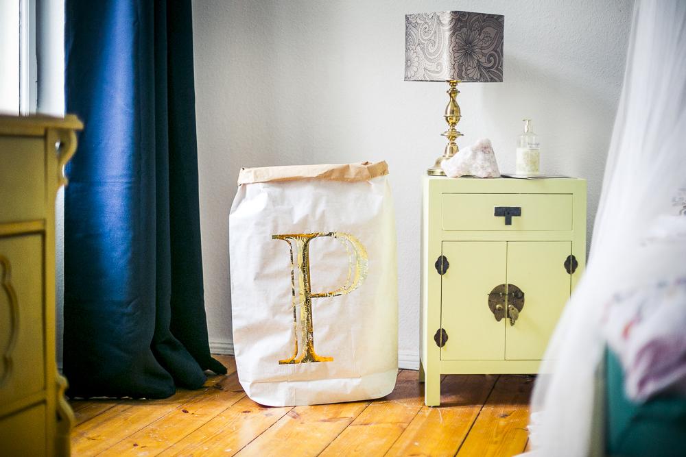 Eulenschnitt Schlafzimmer gold