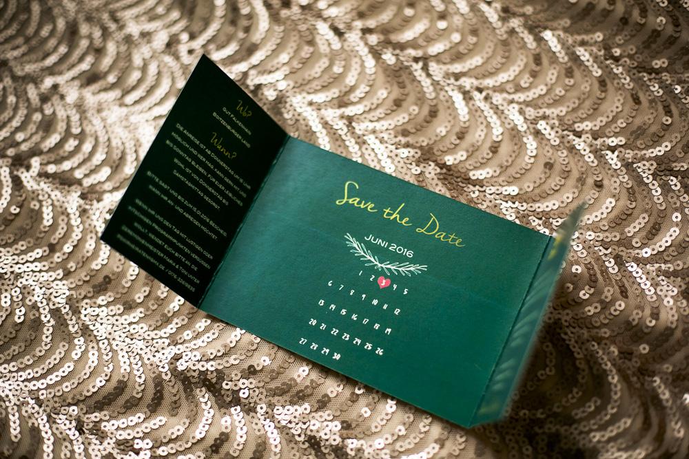 Hochzeit Save the Date Karten Gold Freibier Hochzeitspapeterie
